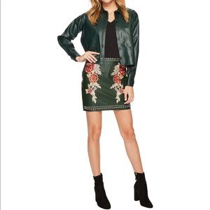 "Romeo & Juliet Couture Green ""Leather"" Skirt"